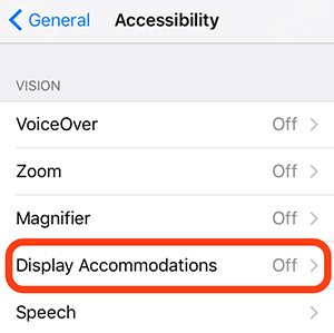 Display Accomodations